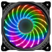 Ventilátor LED 12cm RGB (18 Leds) full colors
